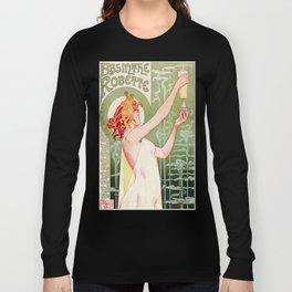 Art Nouveau Absinthe Robette Ad Long Sleeve T-shirt