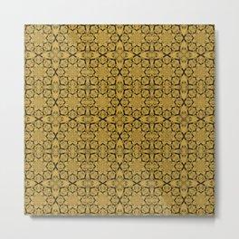 Spicy Mustard Geometric Metal Print