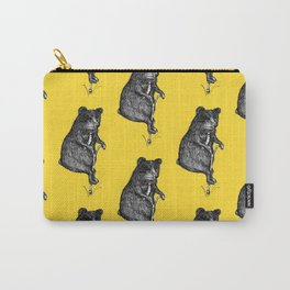 Ride On Bear_yellow Carry-All Pouch