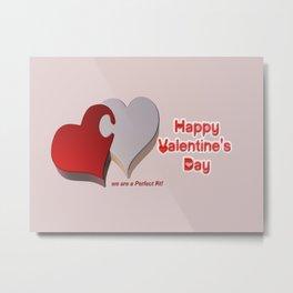 Valentine's Puzzle Metal Print