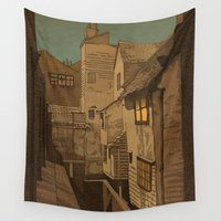window Wall Tapestries featuring Dusk by Megs stuff