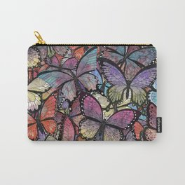 butterflies aflutter colorful version Carry-All Pouch