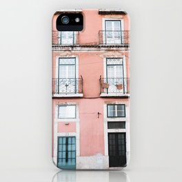 Old Orange House in Alfama in Lisbon, Portugal | Travel Photography | iPhone Case