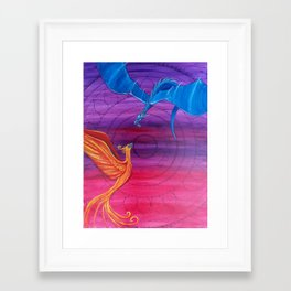 Everlasting Love - Dragon and Phoenix Framed Art Print