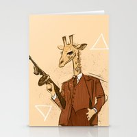 gangster Stationery Cards featuring Gangster Giraffe by Ichorteeth