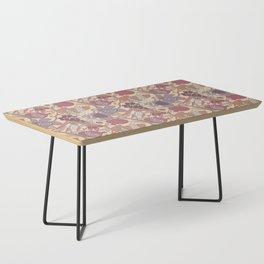 Seven Species Botanical Fruit and Grain in Mauve Tones Coffee Table