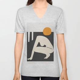 Abstract Art Nude 3 Unisex V-Neck