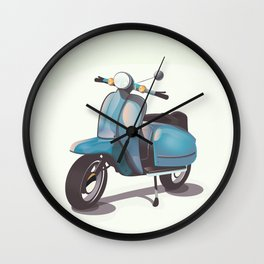 Vintage Scooter Wall Clock