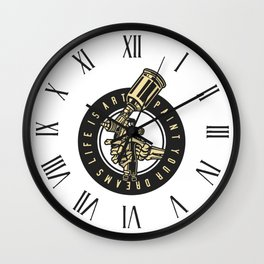 Paint Your Dreams Wall Clock