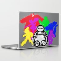 big hero 6 Laptop & iPad Skins featuring Big Hero 6  by grapeloverarts