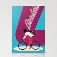 cycling Stationery Cards featuring Cycling by Carlos Hernandez