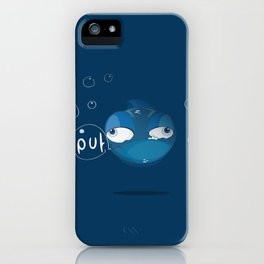 Character collection saltwater fish puff iPhone Case