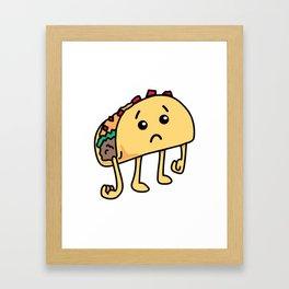 Sad Taco - Not Tuedsay Framed Art Print