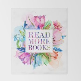 Read More Books Pastel Throw Blanket
