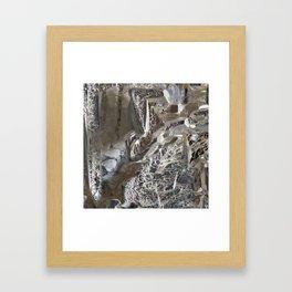 Silver Crystal First Framed Art Print