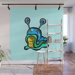 Blue Slug, Somewhat Confused! Wall Mural