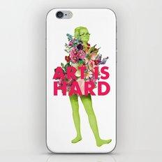Art Is Hard - Flower Girl iPhone & iPod Skin