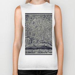 Blueprint Map of Amsterdam Biker Tank