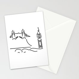 London tower bridge big ben Stationery Cards