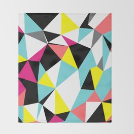 Colorful bright geometrical triangles print Throw Blanket