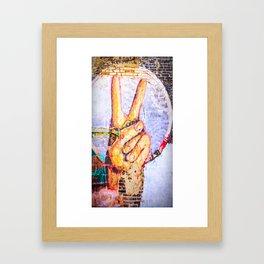 Peace at the Wall Framed Art Print