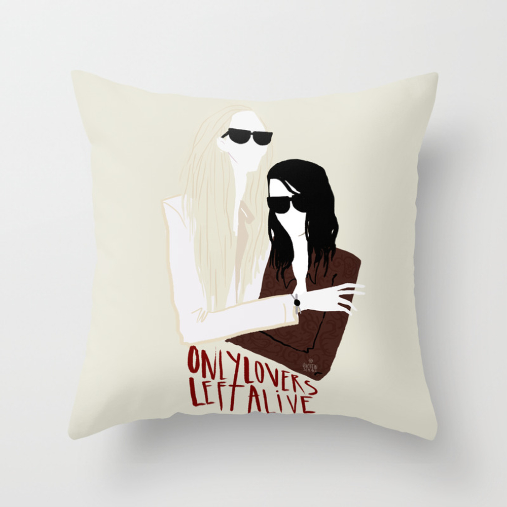 Only Lovers Left Alive Throw Pillow by Quentinschall PLW2274288