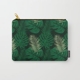 Tropical Leaves Green Carry-All Pouch