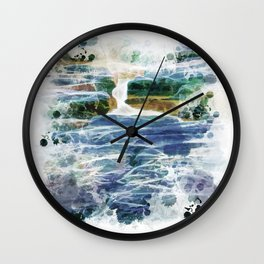 Abstract rock pool in the rough rocks Wall Clock