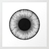 Eye B&W Art Print