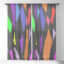 Abstract Lines (All Colors) Sheer Curtain