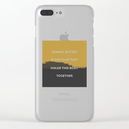 Peanut Butter Rules Clear iPhone Case