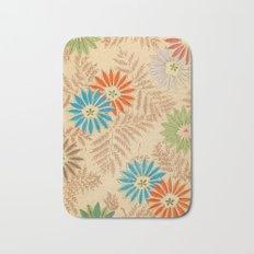 Japanese Vintage Flowers Pattern Bath Mat