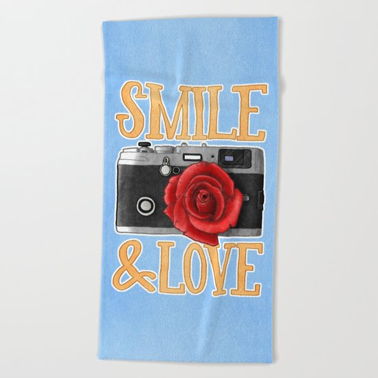 Smile and Love Beach Towel