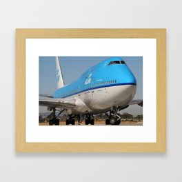 KLM up close Framed Art Print