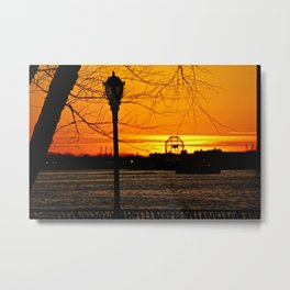 Sunset over The Hudson River NYC 2 Metal Print