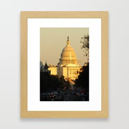 The United States Capitol in the afternoon sun Framed Art Print