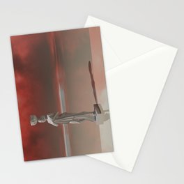 The statue Stationery Cards