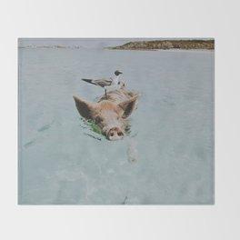 let's swim Throw Blanket