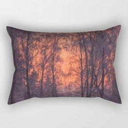 Winter Scene - Frosty Trees Against The Sunset #decor #society6 #homedecor Rectangular Pillow