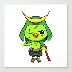 Samurai Bird Canvas Print