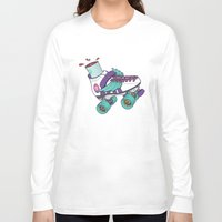 roller derby Long Sleeve T-shirts featuring Roller Derby Motherf***er by Kiwii Illustration