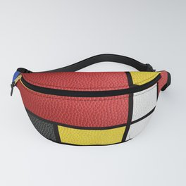 Mondrian in a Leather-Style Fanny Pack