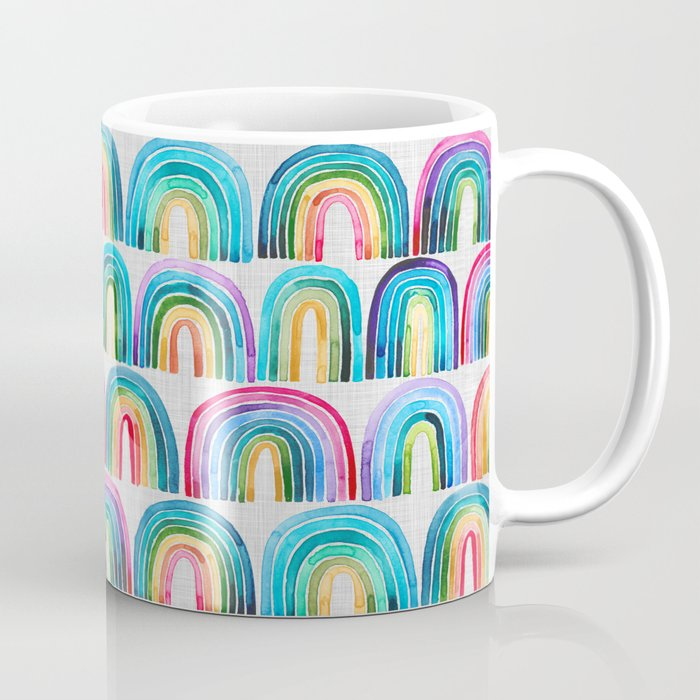 Rainbow Rows Coffee Mug