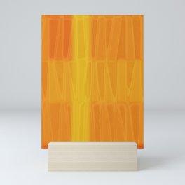 Textured Orange Flame Mini Art Print