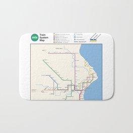 Milwaukee Transit System Map Bath Mat