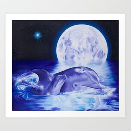 Dolphins of Sirius Art Print