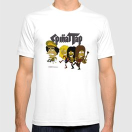 Spinal Tap kicking Muammar Gaddafi in the butt, the timeless classic T-shirt
