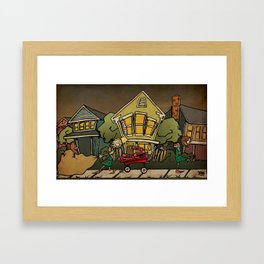 Zombie Girl Scouts Framed Art Print