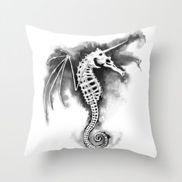 Pegasus of the Sea Throw Pillow