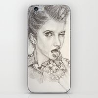 hayley williams iPhone & iPod Skins featuring Hayley Williams Portrait by AutumnGaurdian